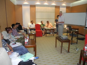 Workshop session with 12 leaders of local support groups