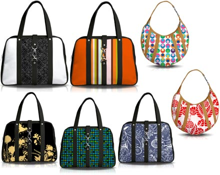 Image of a collection of handbags