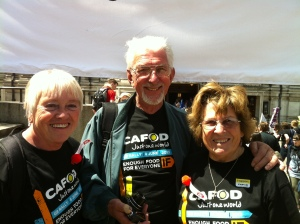 John and Freda Vine (Right) with freind and fellow St Stephen's parishioner Eileen (left)