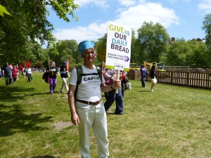 Roger showing his support in Hyde Park