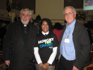 Bishop Pat Lynch Sheila Faucher Fr Joe Ryan from Westminster