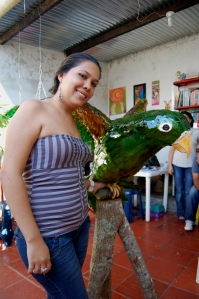 Cindy Estefany Acoña Pinto, part of youth cultural groups learning about HIV and using art and culture to promote HIV prevention messages to reduce gender based violence. in Colombia.