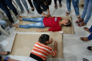 Young people attending an HIV workshop and learning about gender issues in Colombia.