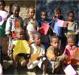 Ethiopian school childrens' Connect 2 letters