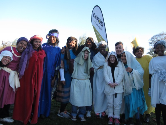 St Francis Xavier College taking part in the CAFOD Nativity Run raising money to help mothers and babies in need. Photo by Liam Finn.