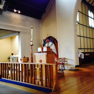 Fr Pious speaking at Our Lady of the Rosary Parish in Blackfen last week.