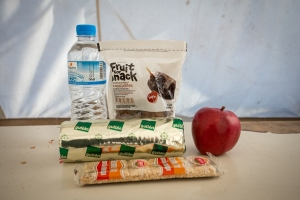 CAFOD A Caritas food pack given to refugees arriving in Greece