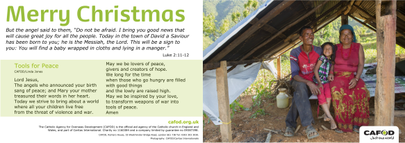 CAFOD Christmas greetings 2016