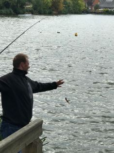Peter - Bringing in the catch