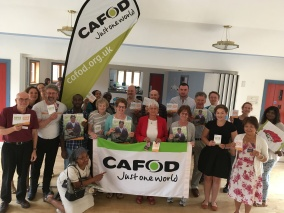 CAFOD volunteers at a Family Fast Day briefing