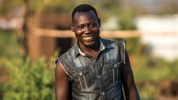 David fled South Sudan. He now lives in Bidi Bidi refugee camp in Uganda, the biggest camp in Africa. He received seeds and tools from CAFOD's sister agency Caritas Uganda. Picture: Tommy Trenchard/ Caritas
