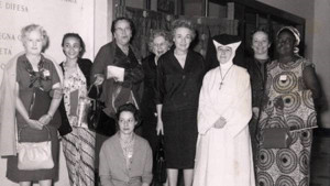 The group of women who organised the first Family Fast Day in 1960