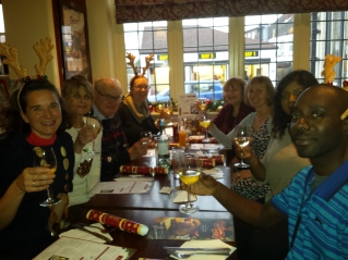 CAFOD Southwark volunteers during a Christmas Lunch