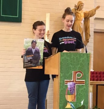 CAFOD speakers at mass for Family Fast Day