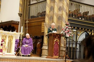 Eye contact is key when speaking at Mass!