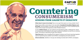 Join us on March 24th for our CAFOD Countering Consumerism Retreat!