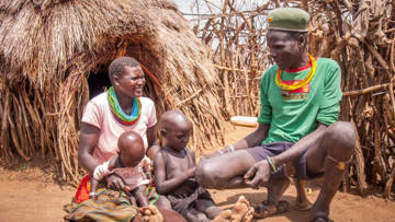 This is Longora and her family in Northern Uganda