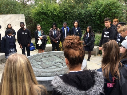 Student's traveled to Geraldine Mary Garden on their journey, through passport control and were faced with situations to simulate what a refugee may have to go through.