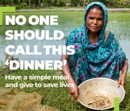 Mahinur is from Bangladesh and this is dinner for her, her husband and her 12-year-old son.