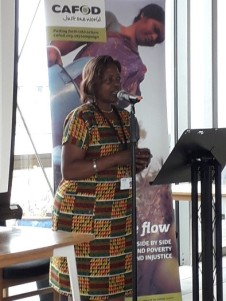 Catherine Ogolla - Kenya and Uganda CAFOD representative inspired us with sharing the priorities for her region