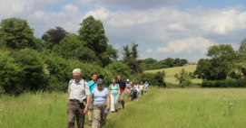 Cafod Southwark supporters enjoying the sunshine on a previous Summer Pilgrimage