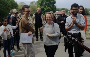 Laudato Si' treasure trail in Wimbledon Park led by Jesuits visiting the parish for a mission.
