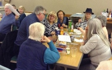 Birchington Parishioners enjoying a quizz night in aid of the food crisis appeal in Zimbabwe and Zambia.